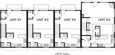 1000+ images about Triplex and Fourplex House Plans on