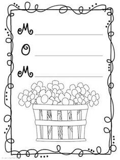 Free printable kids Mother's Day writing paper