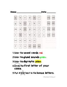 Updated Fundations Alphabet chart Freebie.....graphics