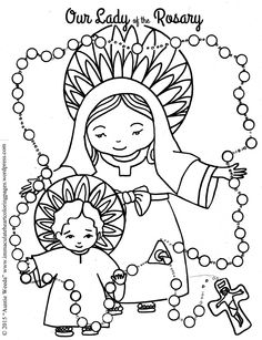 Our Lady of Fatima coloring page for Apparition fair