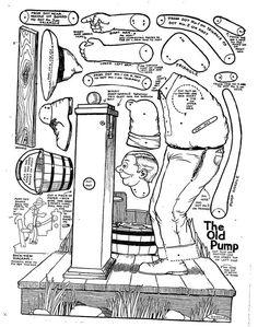 Fourth of July-Craft idea-Vintage Tillie the Typist Paper