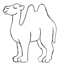 Camel pattern. Use the printable outline for crafts