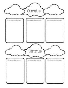 Stratus cloud, Worksheets and Cloud on Pinterest