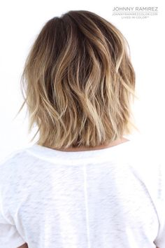 we often see ombre on girls with long beachy waves but this style proves that the look is just