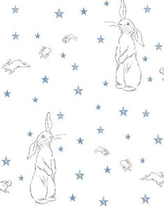 Star wallpaper, Rabbit and Peonies on Pinterest