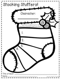 Story Elements Graphic Organizers for Christmas