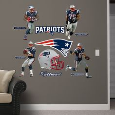 New England Patriots Fathead Wall Decals Are All Pro Decor Revolutionizing Posters And Stickers Today To Showcase Your