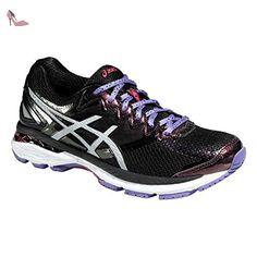 asics gt lite show chaussures de running femme noir blanc