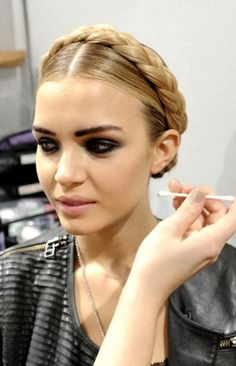 """Russian Style """"basket Braid"""" My Aunt Used To Do My Hair Like"""