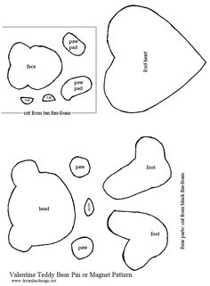 Free Sitting Teddy Bear Paper Piecing Pattern, Sample, and