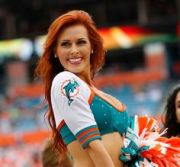 miami dolphins redhead amy