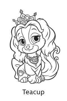 Disney Princess Palace Pets Coloring Page of Rouge