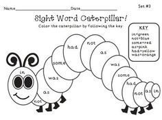 The Very Hungry Caterpillar Vocabulary Writing Practice