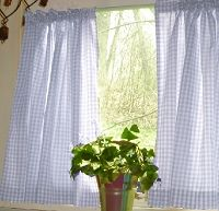 Dark Purple And White Cafe Curtains Gingham Check Colorful