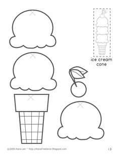 Ice Cream Cone template for tracking the times everyone in
