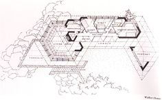 Floor Plan, The Louis Penfield House, Willoughby Hills