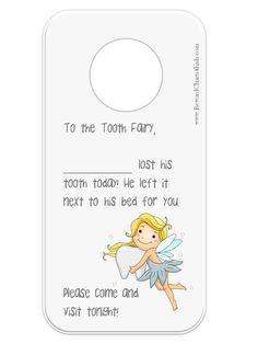 1000+ images about Tooth Fairy Printables & Crafts on