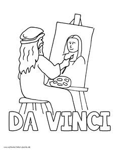Davinci Art Pages Coloring Pages