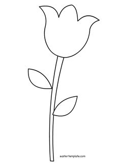 Tulip pattern. Use the printable outline for crafts