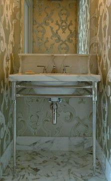 metal top kitchen table outdoor stainless steel cabinet doors 1000+ images about powder room vanities on pinterest ...