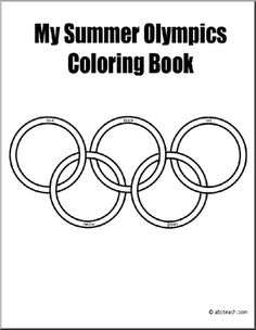 Set of printable design sheets with an Olympic theme