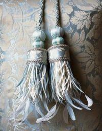 Spina Feather Curtain Tiebacks on Pinterest