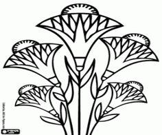 Papyrus flowers. The papyrus sedges are aquatic plants in