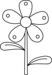 flower stems clip flowers daisy garden templates floral vector