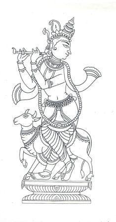Ganesha Chaturt Coloring Page, Ganadhyakshina Coloring