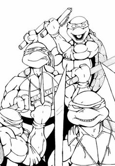 Ninja turtles, Coloring pages and Ninjas on Pinterest