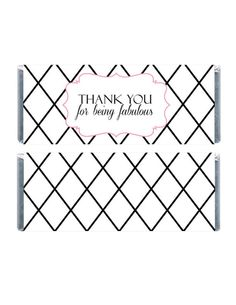 Printable Candybar Wrappers, Black Striped Candy Wrappers