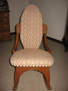 antique victorian folding rocking chair mission style morris petite eastlake chair, ladies' sewing or nursing chair. | baby ...