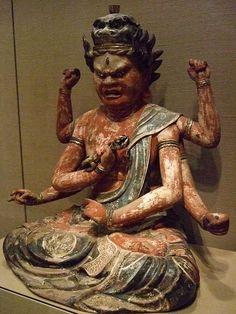 Risultati immagini per paint art ancient culture gods japan statue