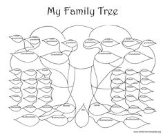 Making a family tree template for kids can be lots of fun