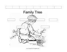 family tree printable and coloring page. Or put actual