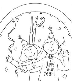 Printable New Year Fireworks Colouring Pages For
