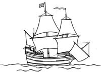 Cut-out pattern of the Mayflower Trail Guide Pilgrim unit