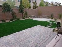 Small Backyard Synthetic Lawn - Arizona Living Landscape ...