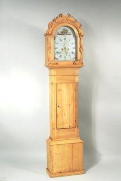 Georgian 1825 Country Pine Tall Case Grandfather Clock