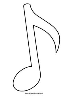 Musical Note. We used this template on chalk paper and