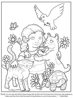 Lovely colouring page for Baha'i children's classes