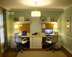 Great Double Office Desk Interior Design Beautiful Home Office