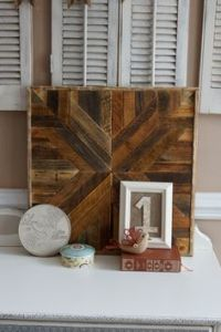DIY Pottery Barn Planked Wood Quilt Square -- want to make ...
