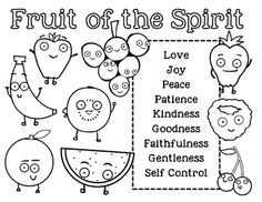 Coloring pages, Fruit of the spirit and Coloring on Pinterest
