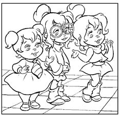 Alvin and the chipmunks coloring pages for kids, printable