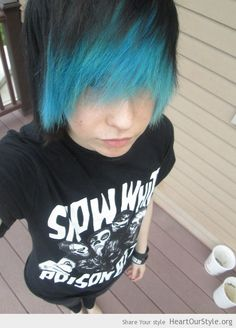 hair color on pinterest scene hair blue hair and green hair