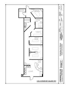 #chiropractic #Floorplan with Semi Open Adjusting