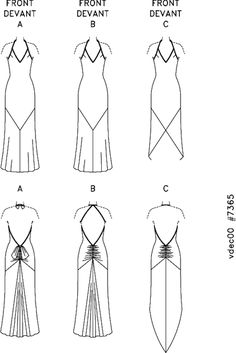 DIY Sewing Vogue 7365 Pattern Backless Long Gown on