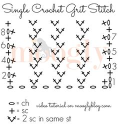 1000+ images about Crochet Stitches on Pinterest