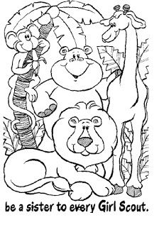 Girl Scout Daisy Petals coloring page from Girl Scouts
